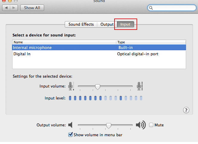 Microphone For Mac Os X